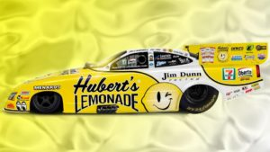 Hubert's Lemonade wrap to reappear on Jim Dunn Racing Funny Car driven by Jim Campbell