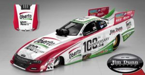 Jim Dunn Racing to Unveil Oberto 100th Anniversary Funny Car at Seattle Mariners Game