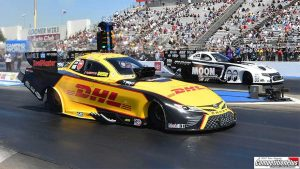Read more about the article NITRO FUNNY CAR DRIVER CAMPBELL RIDING WAVE OF MOMENTUM INTO TOPEKA