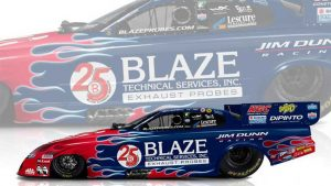Read more about the article Blaze celebrates 25th anniversary by sponsoring Jim Dunn Racing in Indy